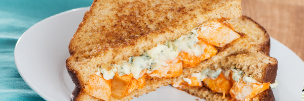 Blue Cheese Buffalo Grilled Cheese