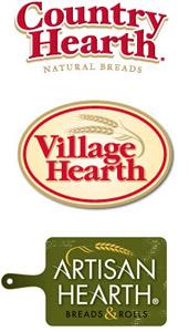 country hearth village hearth logos