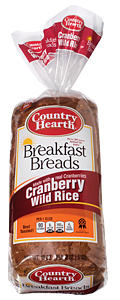country hearth cranberry wild rice breakfast bread