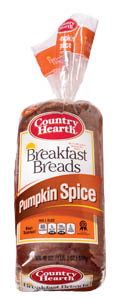 country hearth pumpkin spice breakfast bread