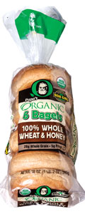 Papa's Organic 100% Whole Wheat and Honey Bagels