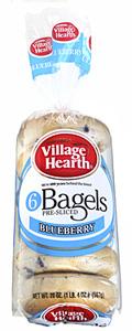 village hearth blueberry bagels