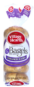 village hearth cinnamon raisin bagels