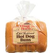 village hearth old fashioned hot dog buns