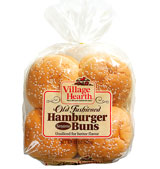 village hearth old fashioned sesame hamburger buns