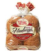village hearth wheat hamburger buns
