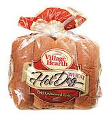 village hearth wheat hot dog buns