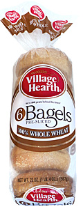 village hearth whole wheat bagels