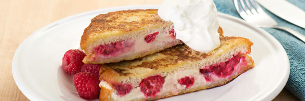 raspberry cream french toast