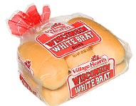 Village Hearth Wisconsin White Brat Buns