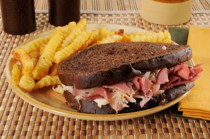 baked rueben sandwich filling