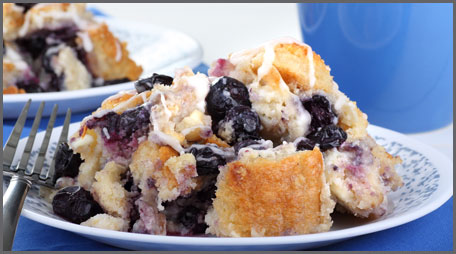 cinnamon blueberry stuffed french toast