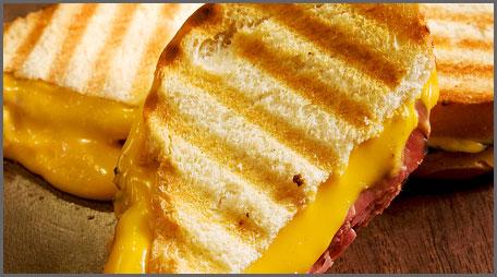 easy cheesy pastrami panini