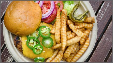 cajun pepperjack burger