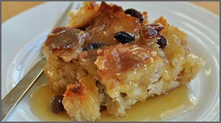 cottage crock-pot crockpot bread pudding