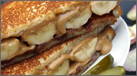 peanut butter bacon banana sandwich