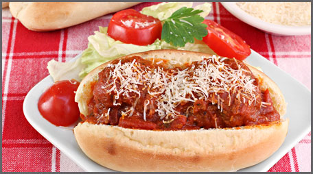 Pizza Meatball Subs
