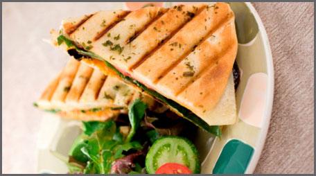 Bacon Cheddar Bagel Panini Recipes — Dishmaps