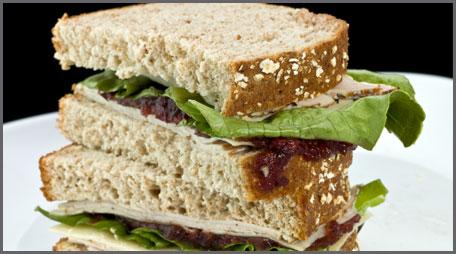 zesty turkey cranberry sandwich