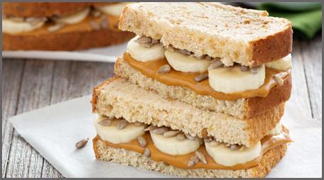 Peanut Butter Banana Sunflower Sandwich 187 Country Hearth